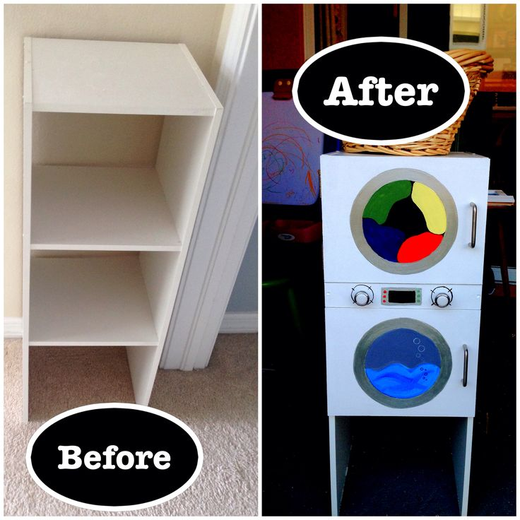Diy Play Washer And Dryer From A Shoe Rack Crafty Ideas