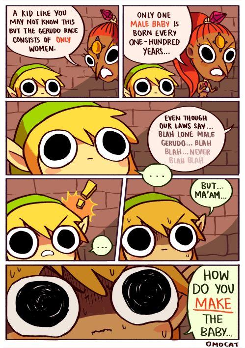 Link and Nabooru - The Legend of Zelda: Ocarina of Time- lol oh Link