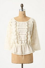 Pretty white peasant blouse - 50% off at Anthropologie!: Ostego Blouses, Dreams Closet, Style, Shirts, White Lace, Peasant Blouses, Jeans Shorts, Denim Shorts, Otsego Blouses