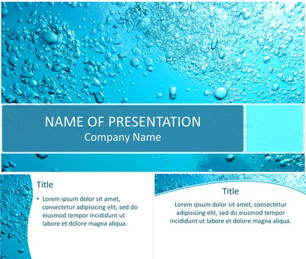 7 best environment powerpoint templates images on pinterest water bubbles powerpoint template toneelgroepblik Images