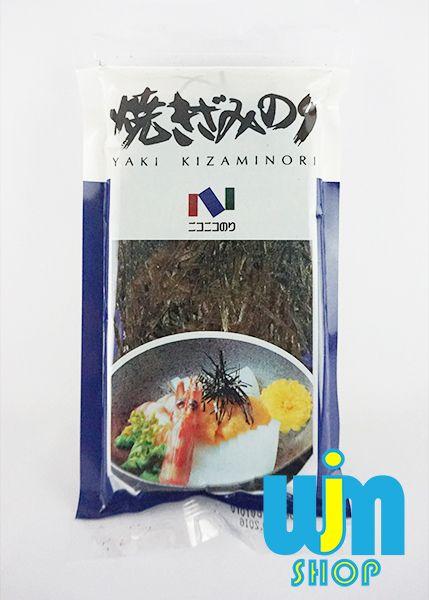 Yaki Kizami Nori Yaki Kizami Nori: Kizami Nori adalah rumput laut yang telah di potong tipis-tipis dan sama rata. Biasa digunakan untuk menghias makanan agar terlihat lebih menarik untuk dimakan dan dapat juga di taburi di nasi, mie instan, bakmi ayam dan lain-lain