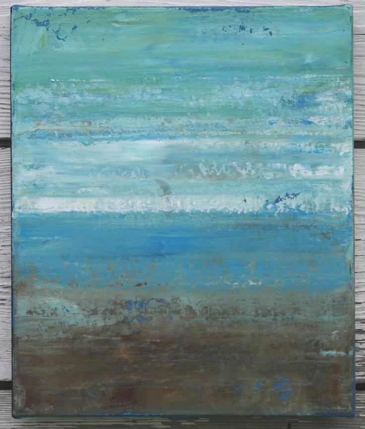 Abstract Beach Painting - Beach (10x12)