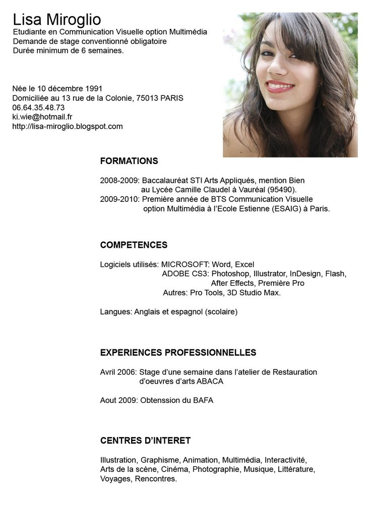 Best 25+ Modelos De Curriculum Vitae Ideas Only On Pinterest