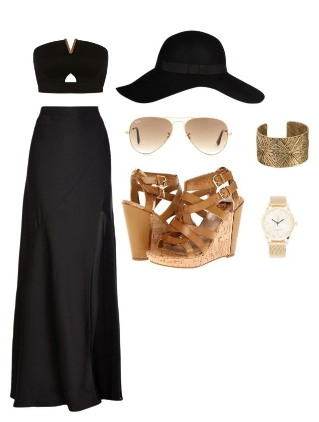 """⚫️?⚫️?"" by fhk21 on Polyvore featuring Miss Selfridge, Coast, River Island, Ray-Ban, Dolce Vita and Triwa"