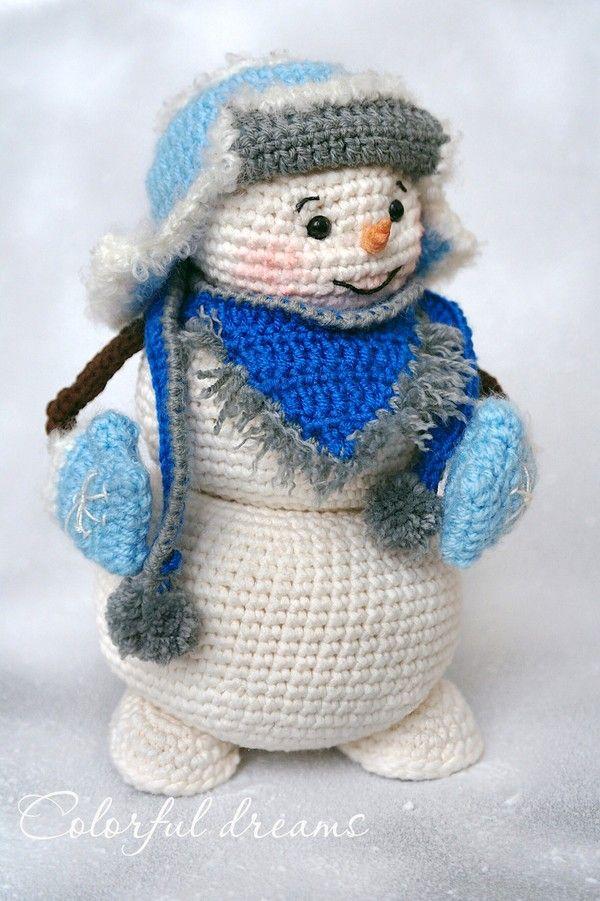 Schneemann Häkeln Schöne Winterdeko Xmas вязанная игрушка
