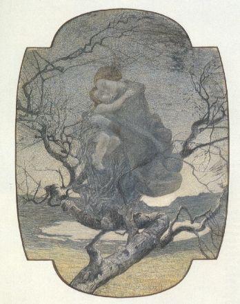 Giovanni Segantini, L'ANGELO DELLA VITA, 1896, Matita dura su carta, cm 59,5x43, St.Moritz, Museo Segantini