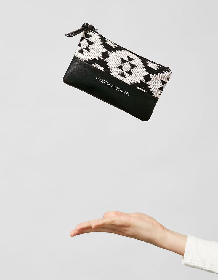 """I Choose To Be Happy"" clutch- Discover this and many more items in Bershka with new products every week"