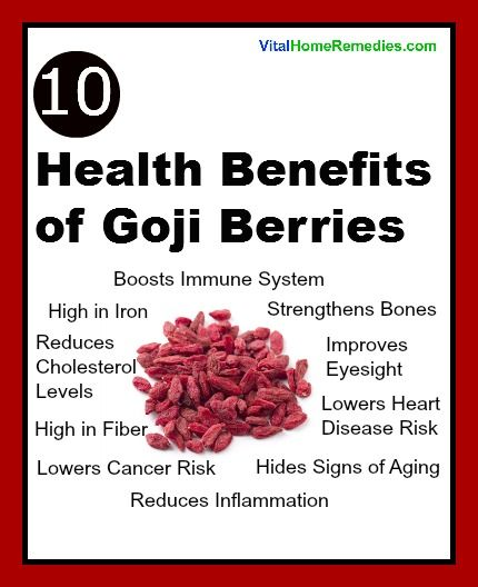 Health Benefits of Goji Berries | NATURAL HEALTHY | Pinterest