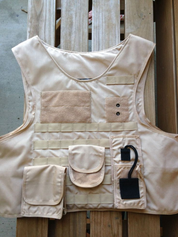 US Armor tactical vest carrier, KHAKI/TAN with MOLLE attachments, Large Long #USArmor
