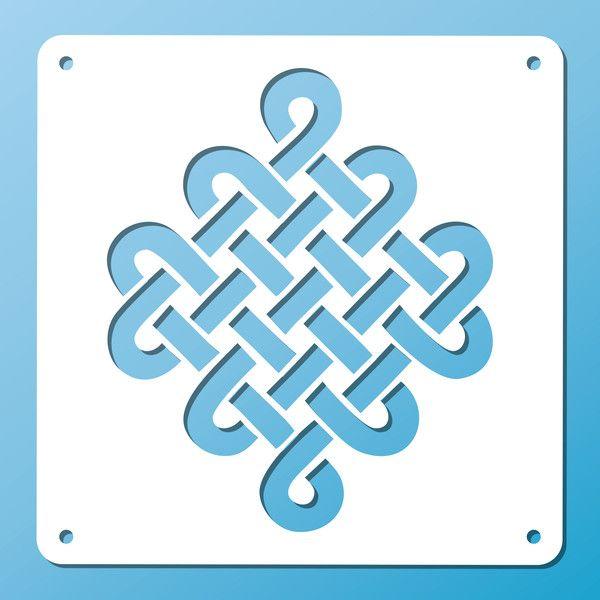 Wandschablonen - Schablone ❖ Keltischer Knoten ❖ versch. Größen - ein…