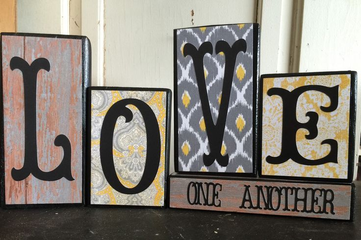 LOVE ONE ANOTHER 2x4 Block Set by JMcreationsOK on Etsy https://www.etsy.com/listing/251958577/love-one-another-2x4-block-set