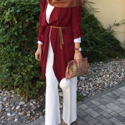 cardigan with palazzo pants-Spring casual outfits for hijabi women – Just Trendy Girls