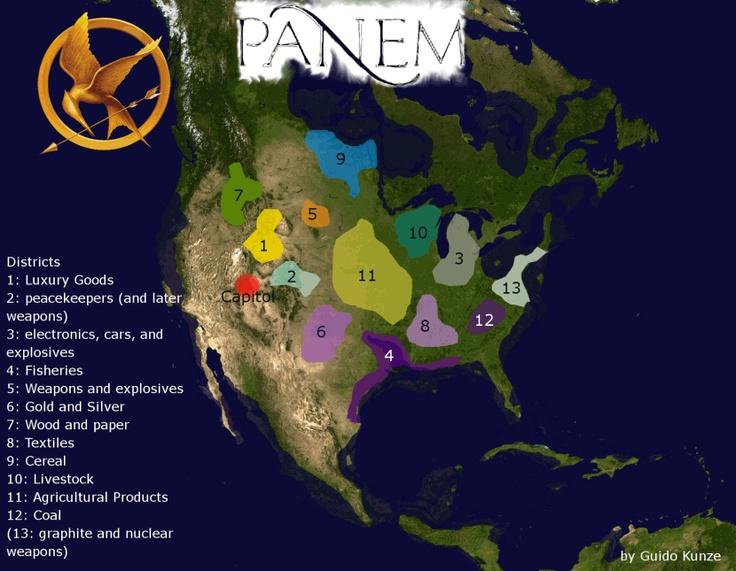 Panem Los juegos del hambre  Mapas y Planos  Pinterest  Mapas