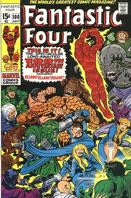 Fantastic Four #100. Art by Jack Kirby.   #FantasticFour #JackKirby