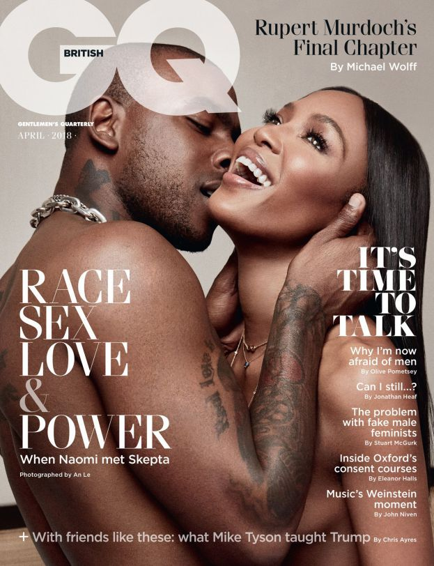 Naomi Campbell and Skepta Cover GQ Magazine UK April 2018