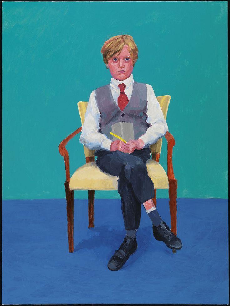 David Hockney Rufus Hale, 23, 24 y 25 de noviembre de 2015 (Rufus Hale, 23rd, 24th, 25th November 2015) de 82 retratos y 1 bodegón Acrílico sobre lienzo (de un conjunto de 82) 121,92 x 91,44 cm © David Hockney Crédito de la foto: Richard Schmidt