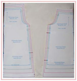 "Free Pillowcase Dress PDF sizes 6 months to size 6.  Great Tutorial for construction. This is for an actual Pillowcase but you can use for pattern, add a 3"" or 4"" double hem to gingham, batiste or lightweight fabric, for a high end look."