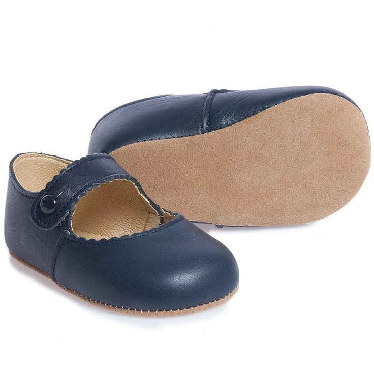 Early Days Girls Navy Blue Leather 'Emma' Pre-Walker Shoes at Childrensalon.com
