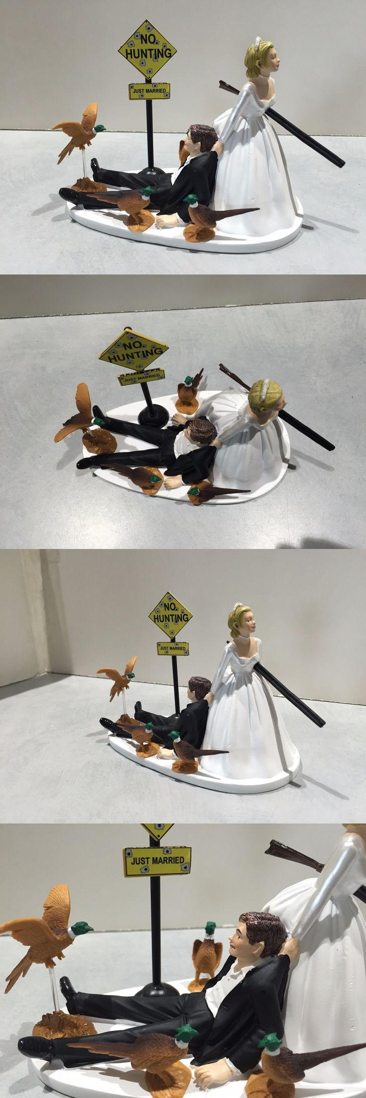 Wedding Cakes Toppers: Hunt Hunting Humor Funny Bride Groom Wedding Cake Topper Pheasants Gun Sign BUY IT NOW ONLY: $49.99