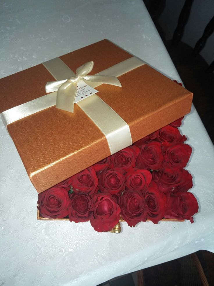 Gift rose flower box