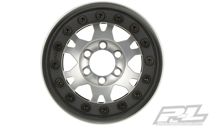 """Pro-Forge Impulse 1.9‰Û Clear Aluminum/Black Bead-Loc 6 Lug F/R Wheels This is a pair of 1.9"""" Aluminum Bead-Loc Wheels. Pro-Line is proud to introduce our new Pro-Forge 1.9"""" Aluminum Wheels that are Proudly Made in the USA!"""