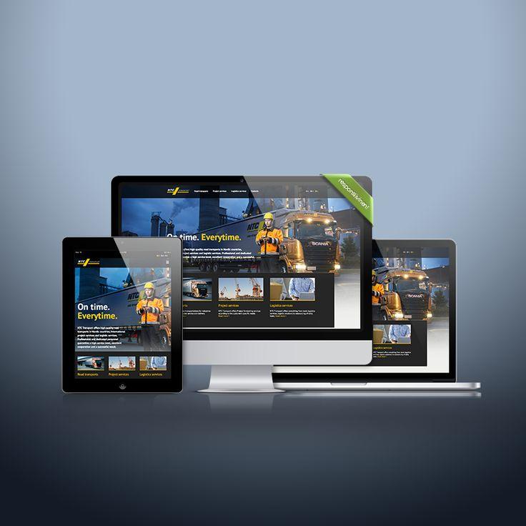 Mukautuva verkkosivusto, Responsive website, NTC Transport Oy