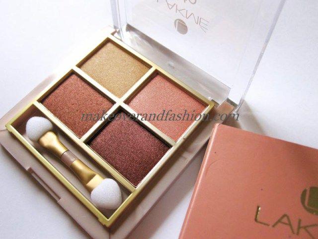 Lakme 9 To 5 Eye Color Quartet Eye Shadow Desert Rose; eyeshadows perfect for winter eye makeup