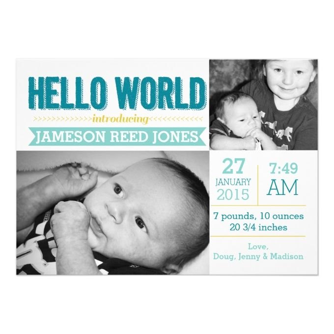 30 best Baby Stuff images – Madison Wi Birth Announcements