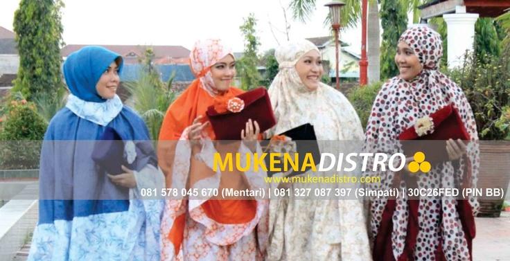 Mukena (telekung, rukuh) distro, hadirkan mukena unik nan berkelas, cantik nan esklusif, menarik dan elegan. Mukena distro, pancarkan pesonamu. http://www.mukenadistro.com/