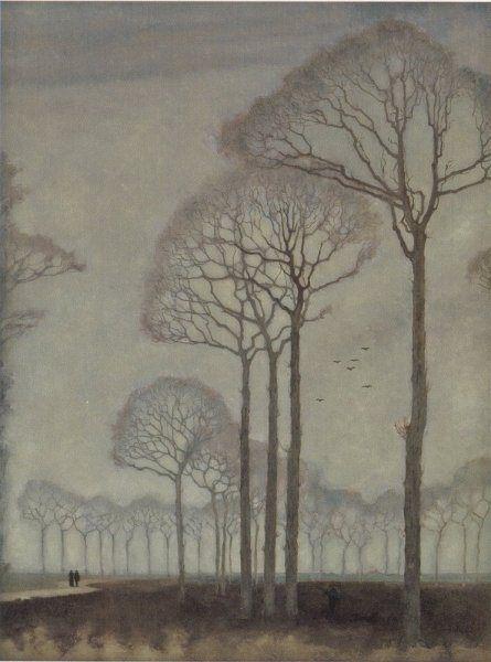 Jan Mankes (Dutch, 1889-1920),Bomenrij[Line of trees], 1915. Oil on canvas, 68 x 50.5cm. Scheringa Museum voor Realisme, Spanbroek.