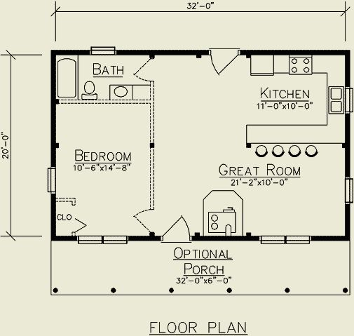 287 best small space floor plans images on pinterest for Mother in law cottage log cabin