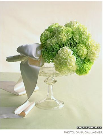 Apple green theme wedding bouquet