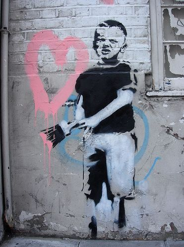 Banksy:: Street Art :: Graffiti :: Paint :: Fashion :: Art :: Graphic :: Colour + Design Inspiration