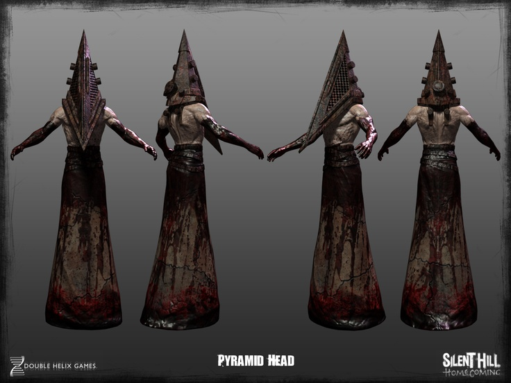 Silent Hill: Homecoming Pyramid Head. Slight differences from other Pyramid Heads, mainly added details on the back of the helmet.