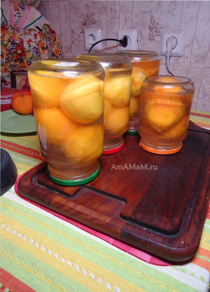 Рецепт компота без стерилизации - персики
