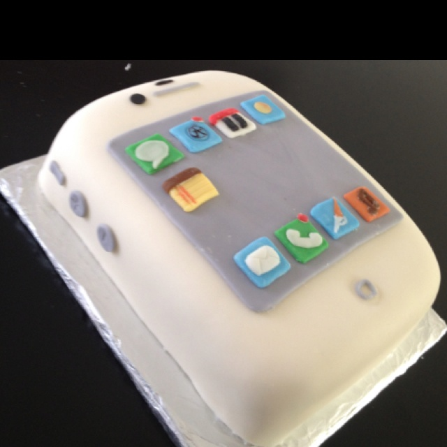 This is a Birthday cake for a 1-yr old. The story goes that nothing will stop him from crying but his Dad's or Mom's iPhone, so she made this cake to get smiling pics at his BD Party :-) We are definitely in the 21st Century!!!
