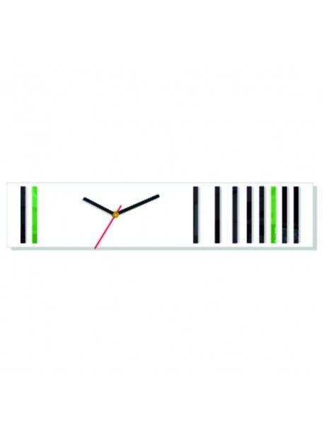 Nástěnné hodiny reflex. Barva bílá-černá-zelená. Rozměr 12 x 56 cm Kód:  FL-Z40-WHITE-BLACK-GREEN-WAR13 Stav:  Nový produkt  Dostupnost:  Skladem  Přišel čas na změnu! Dekorační hodinky oživí každý interiér, zvýrazní šarm a styl Vašeho prostoru. Zůtulní realít s novými hodinami. Nástěnné hodiny z plexiskla jsou nádhernou dekorací Vašeho interiéru.