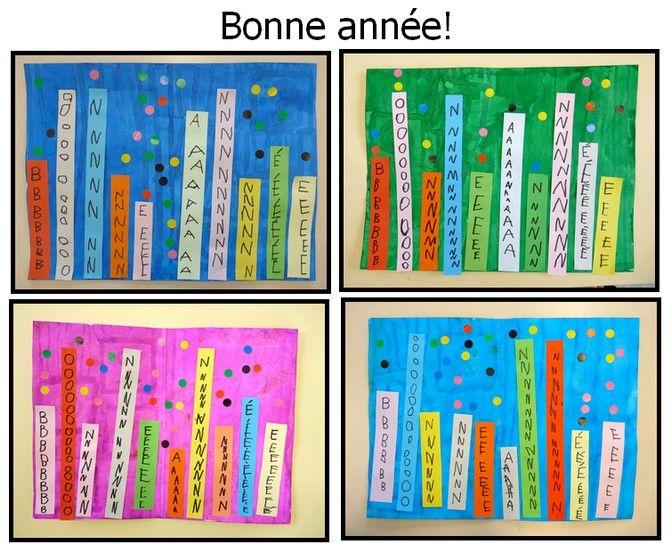 carte bonne annee cp