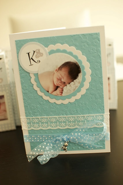 baby boy christening card