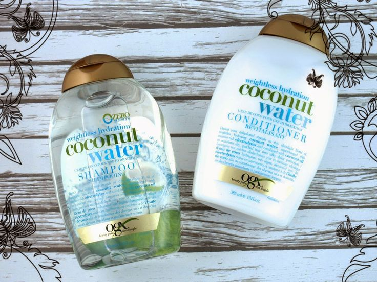 Organix Coconut Water Shampoo and Conditioner ! It's orgasmic for your head and hair!