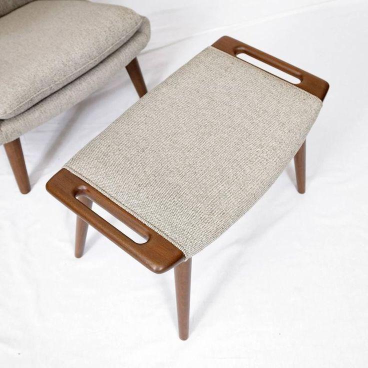 "Hans Wegner ""Papa Bear"" Chair and Footstool 9"
