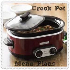 Frugal Crock Pot menu plans for the days you don't have hours to spare to cook dinner.