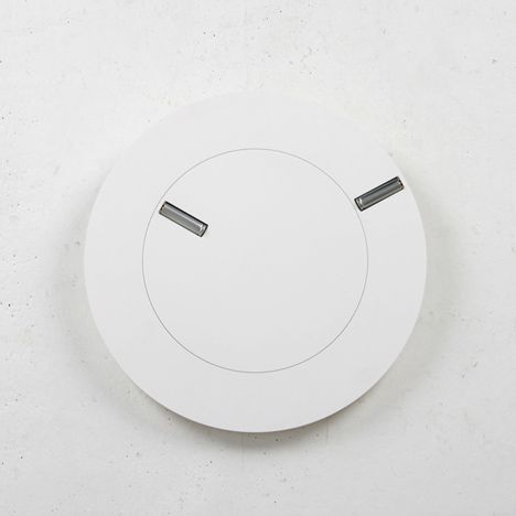 Two batteries form the hands of this clock by designers Giha Woo and Shingoeun.