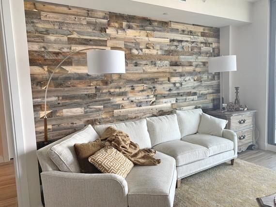 Wyoming Reclaimed Wood Planks 20 Sq Ft Gray Brown Etsy In 2021 Wood Walls Living Room Wood Plank Walls Reclaimed Wood Wall