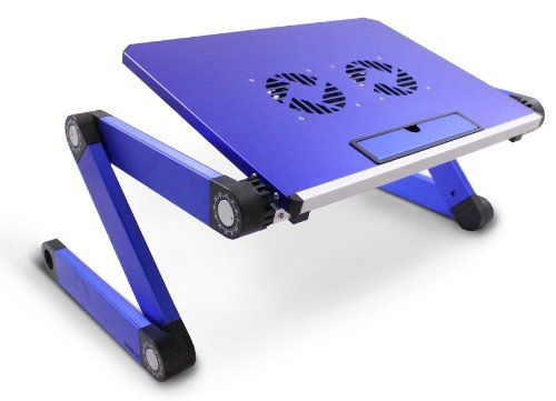 Lavolta DJ Laptop Stand Table Desk Tray with Cooling Pad for DJ Mixer Controller, Turntable Amplifier, Karaoke Machine, CD, MP3, MIDI Player - Blue - http://mixingmastering.co.uk/lavolta-dj-laptop-stand-table-desk-tray-with-cooling-pad-for-dj-mixer-controller-turntable-amplifier-karaoke-machine-cd-mp3-midi-player-blue/