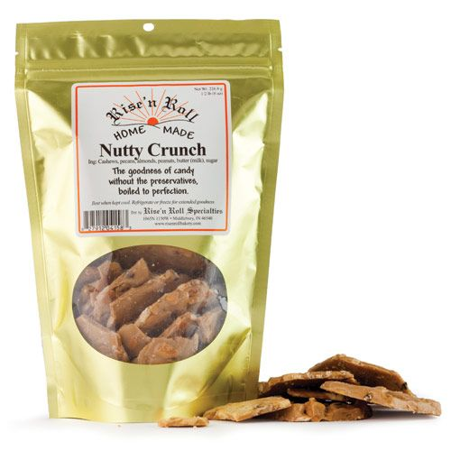 Nutty doesn't begin to describe this deliciously crunchy candy from Indiana's Rise n' Roll Amish Bakery. A plethora of cashews, pecans, almonds and peanuts are held together with a crispy, buttery, toffee-like crunch that tastes like a brittle but doesn't stick to teeth. Genius!
