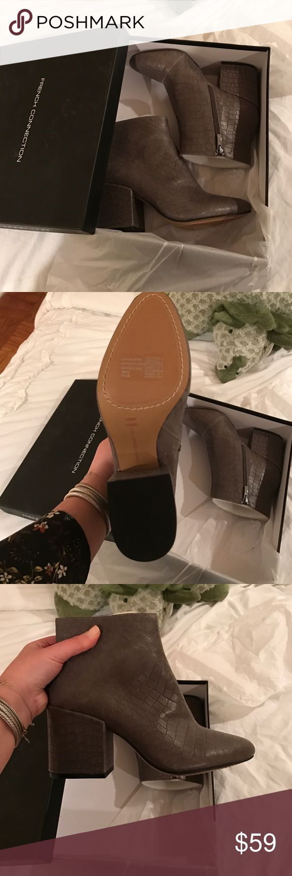 New in box French Connection Dilyla booties AMAZING BOOTIES! New in box! Perfect condition! French Connection Shoes Ankle Boots & Booties