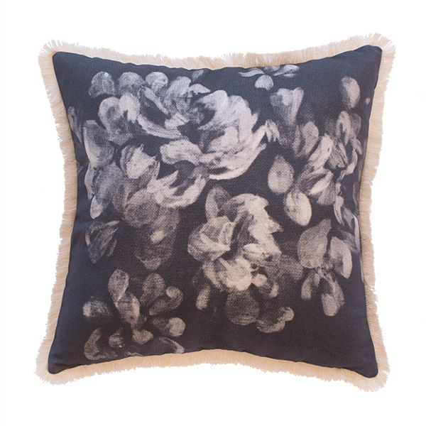 The classic 'Peonies' Cushion is a garden beauty. Extra special care has been taken during the production of this Limited Edition piece.- Designed and made in Australia. Designed by Natala Stuetz in Brisbane, Australia. © 2014 Ma and Grandy