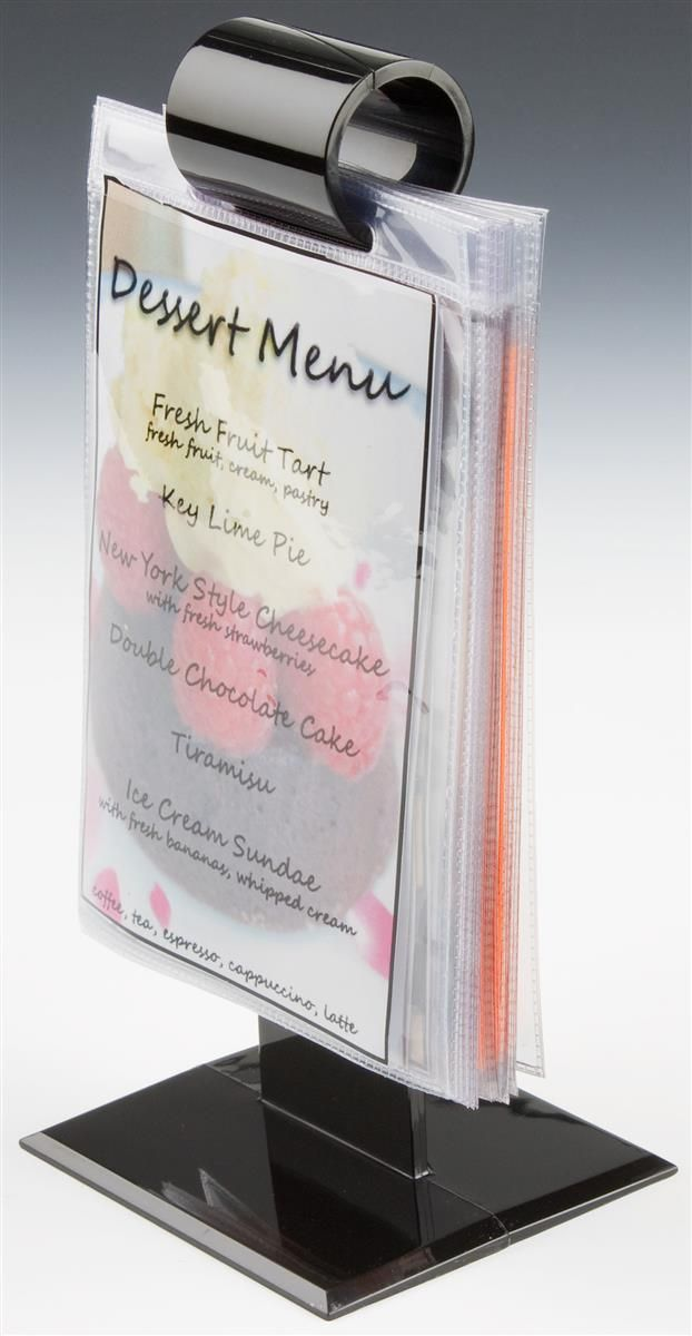 9 25 Menu Holder Flip Chart For Tabletop Use 10 Vinyl Sign Sleeves Black Restaurant Menu Holder Menu Holders Menu Restaurant