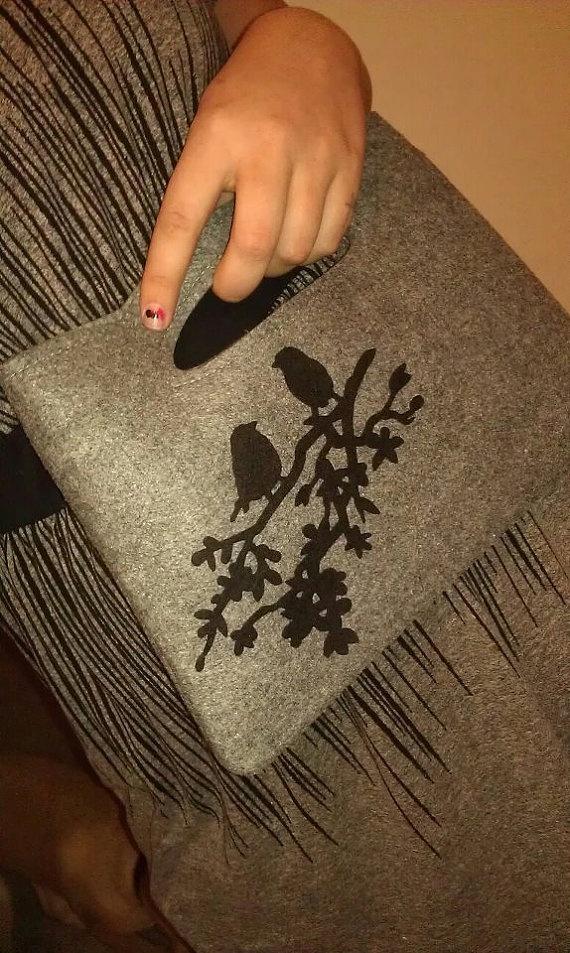 Embellished Felt Purse by nicoleloudin on Etsy, $10.00